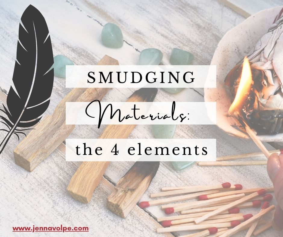 Smudging Materials for Beginners - the 4 Elements
